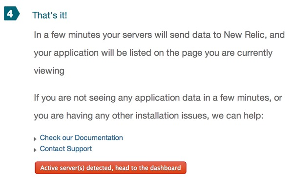 Installation of New Relic Complete