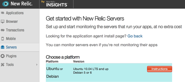 Installation of New Relic
