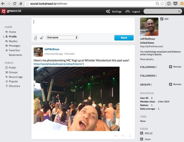 GnuSocial Profile Page