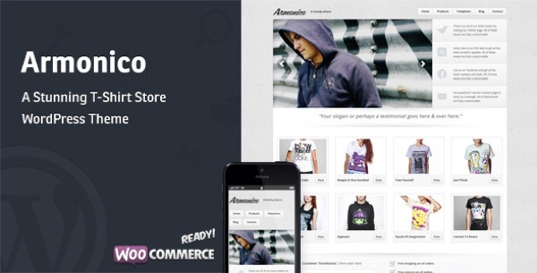 Armonico Theme for WordPress on Theme Forest
