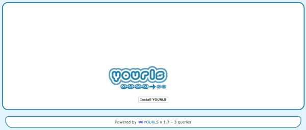 YOURLS Install Page