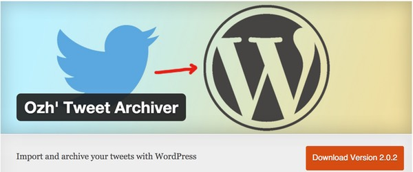 Tweet Archiver WordPress Plugin