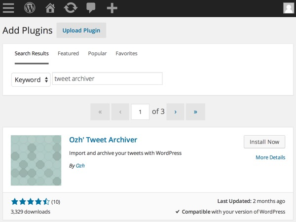 Add Tweet Archiver WordPress Plugin