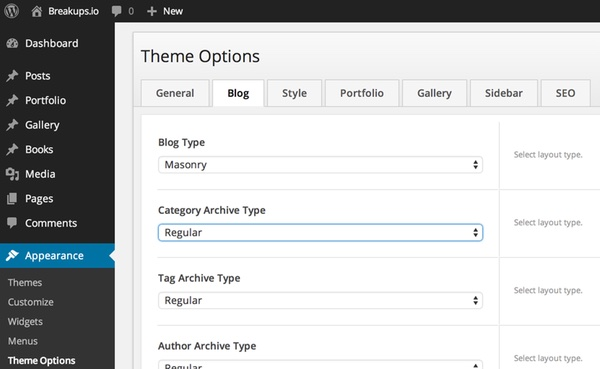 Readme Theme Options Tabbed Dialog