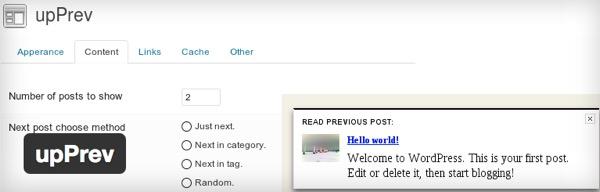 WordPress Plugin upPrev