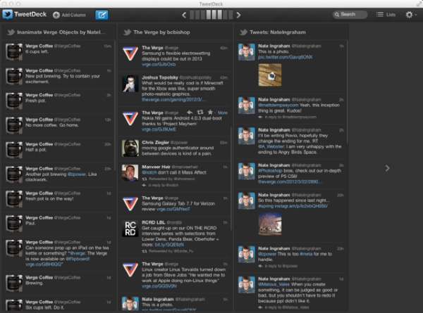 TweetDeck List View Column