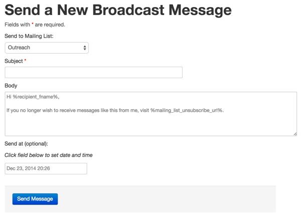 ListApp Send New Message