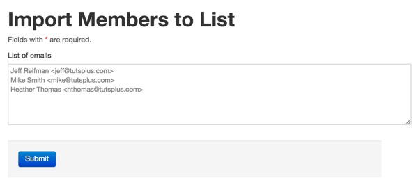 Import members to a list
