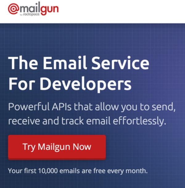 Mailgun Home Page