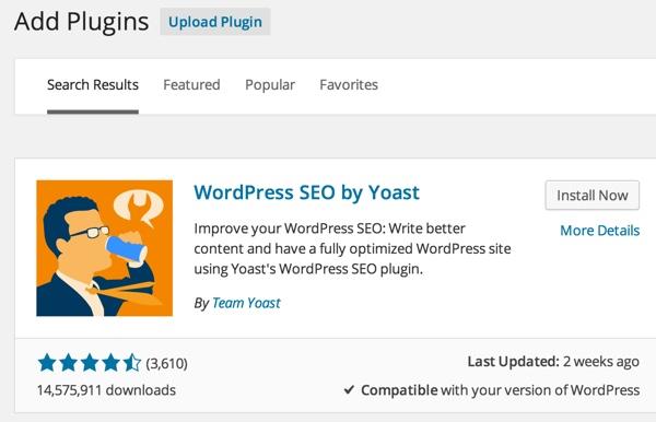 WordPress Add the Yoast SEO Plugin