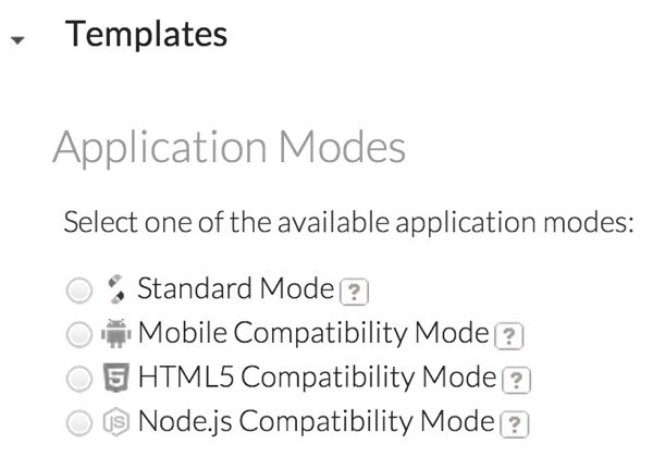 JScrambler Application Modes