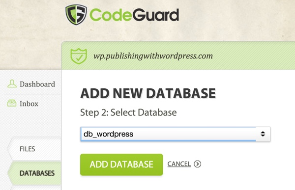 CodeGuard Select Database