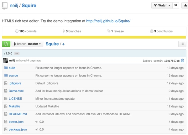 Squire on Github