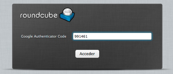 Roundcube Two Factor Authentication with Google Authenticator