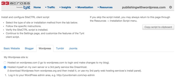 Tynt Installation Guide for WordPress