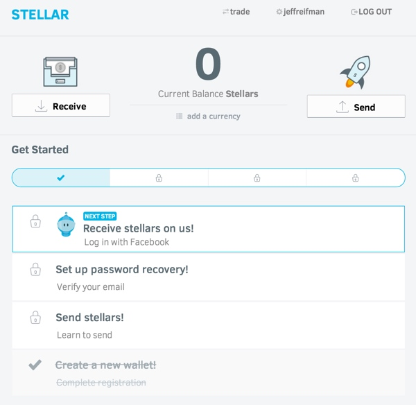 Stellar Getting Started Step One