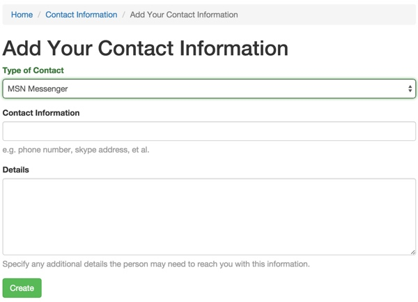 Add Your Contact Form with Type Dropdown