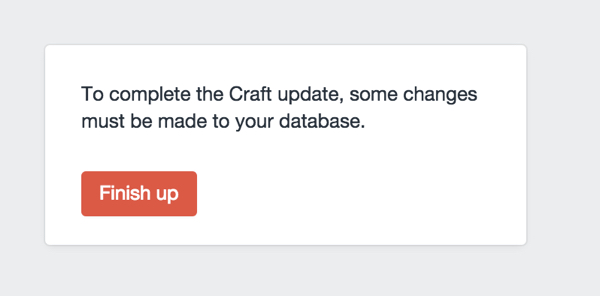 Update the database for Craft CMS
