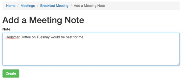Add a Meeting Note