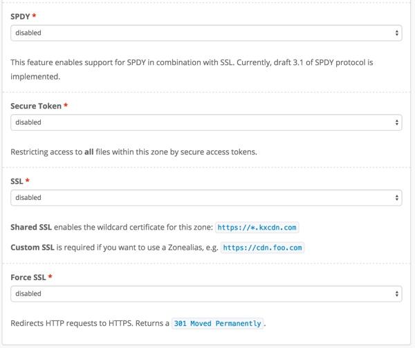 KeyCDN SPDY SSL
