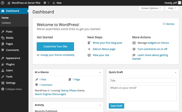 WordPress Your Dashboard