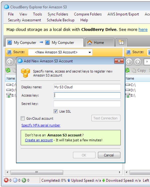 Cloudberry Explorer Add Your S3 Account