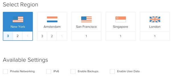 OwnCloud Select Region