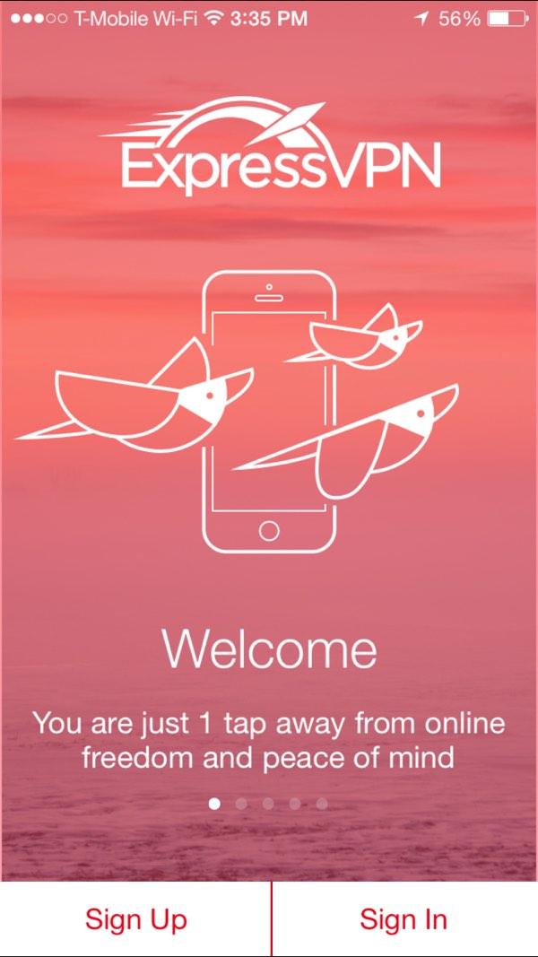 Using VPN Express VPN iOS App