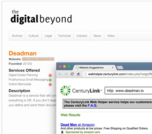The Digital Beyond Online Services list and Extinct Businesses