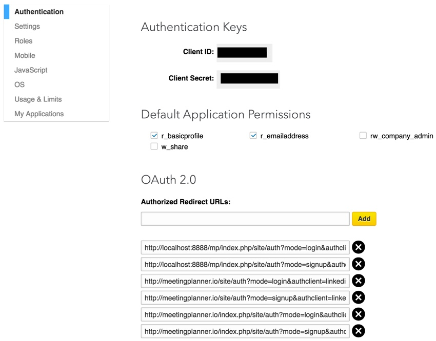 Building Your Startup OAuth - LinkedIn Dev Keys and Redirect URLs again