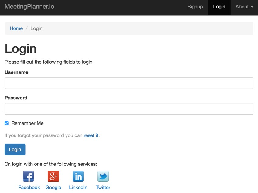 Building Your Startup OAuth - The New Login Screen with AuthChoice Widget Buttons to Social Networks