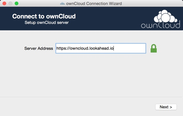 OwnCloud Setup the OS X App - Connect to your OwnCloud