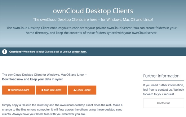 OwnCloud Desktop Clients