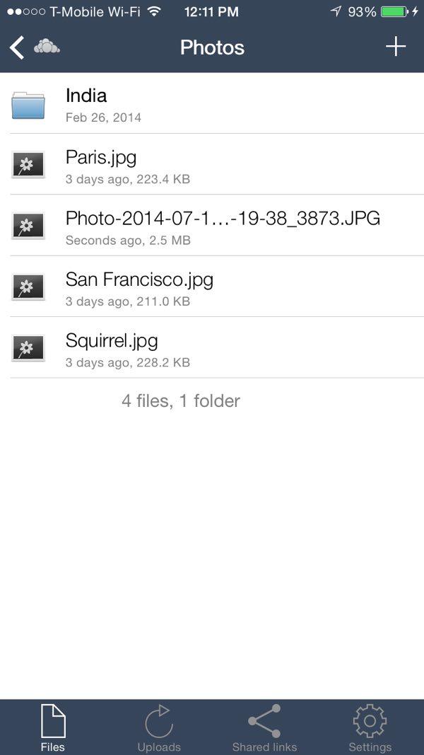 OwnCloud iOS App Uploaded Photos