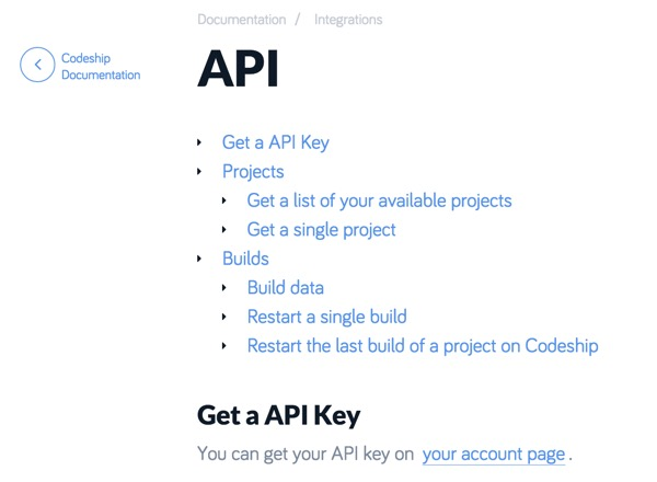 Codeship API Documentation Script and Automate the Codeship