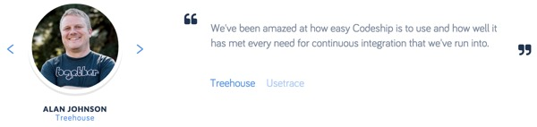 Codeship Treehouse Customer Testimonial