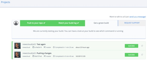 Codeship Get a Green Build Project Build Logs