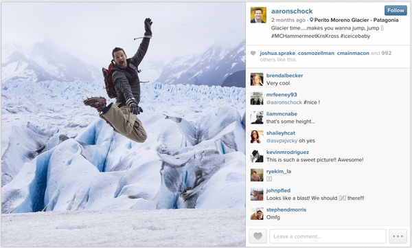 Congressman Aaron Shock at the Perito Moreno Glacier