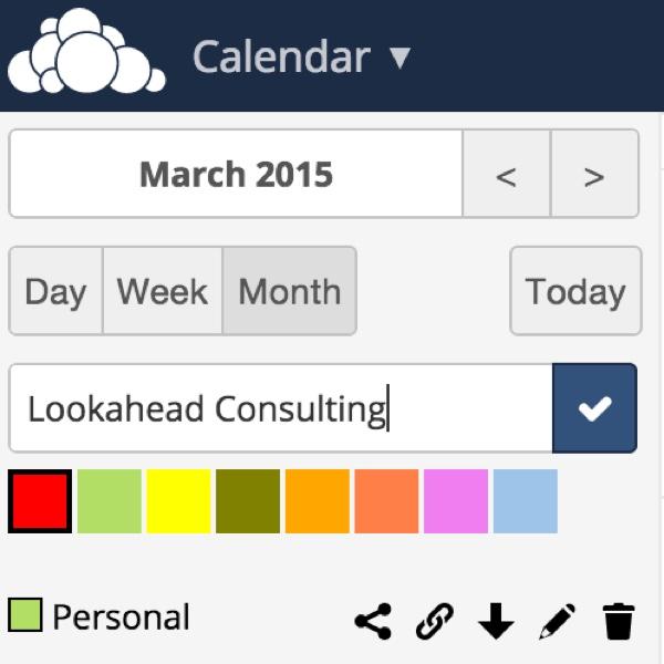 OwnCloud Calendar App Add Calendar