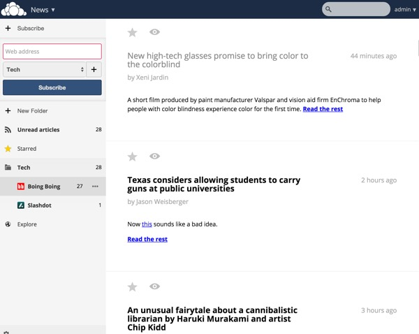 OwnCloud News Home Page