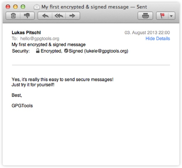 GPG Tools Decrypting a Received Message