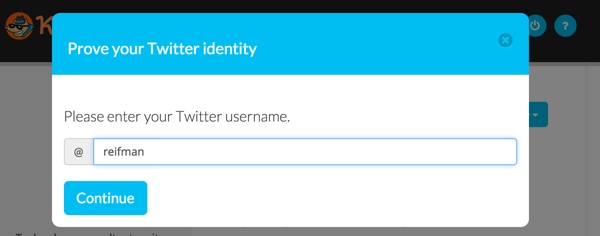 Keybase Prove Your Twitter Identity