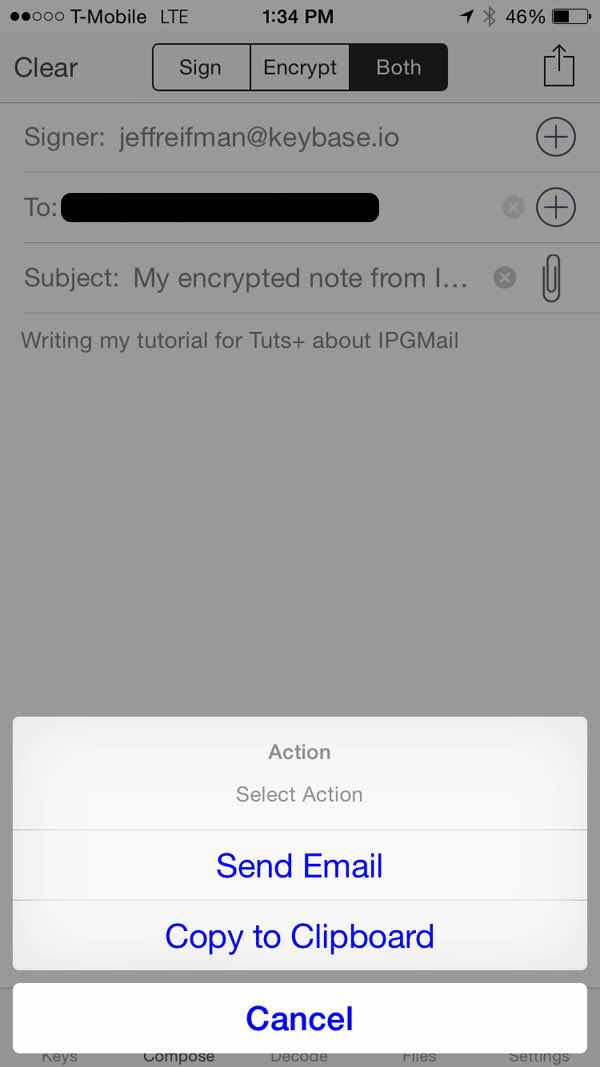 iPGMail  Send Email Directly or Copy to Clipboard