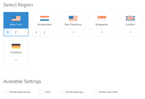Jenkins Digital Ocean Create Droplet Select Region