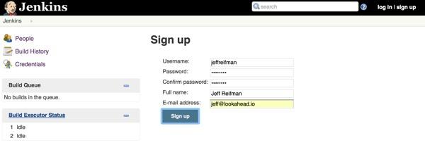 Jenkins Sign up