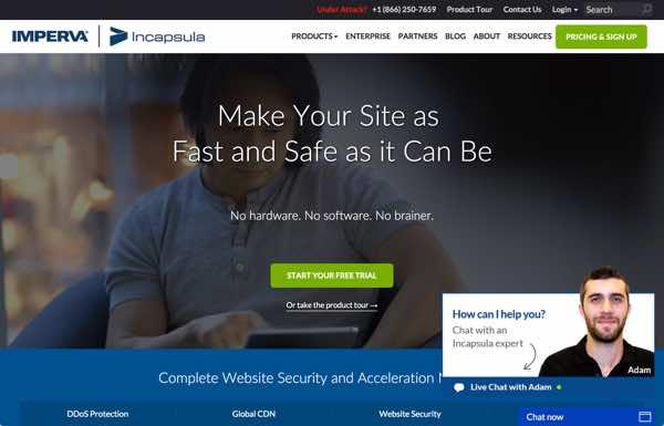 Incapsula The Website Home Page