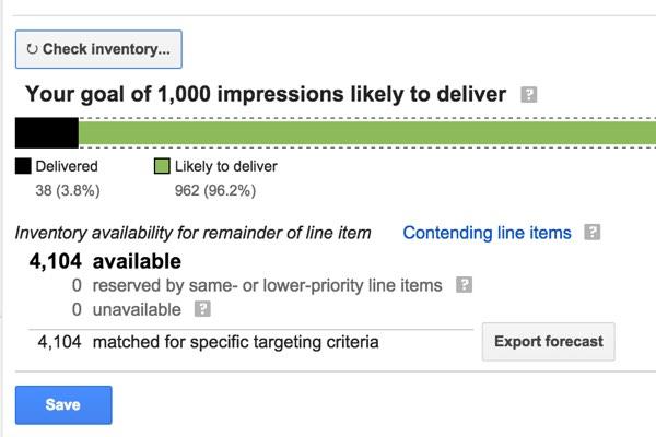 Google DFP Check Inventory