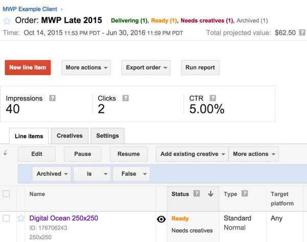 Google DFP Ready Needs Creatives
