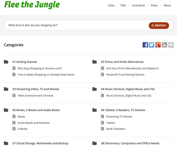 The Flee the Jungle Global Home Page - Amazon Alternatives