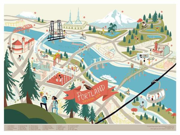 Fun Portland Map from Edward Juan